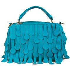 Buy Vogue Lady Tassels Design Fashion Handbag Blue with cheapest... via Polyvore
