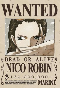 Poster One Piece Wanted Robin One Piece Comic, One Piece Manga, Robin One Piece, One Piece Drawing, Zoro One Piece, Nico Robin, One Piece Figure, One Piece Pictures, One Piece Images