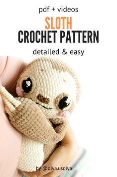 Lenny the Sloth Amigurumi CROCHET PATTERN Lenny the Sloth Amigurumi CROCHET PATTERN,häkeln Related posts:Crochet Baby Rattles - Amigurumilinley long cardigan lion brand yarn cozy cardigan extra long cardigan beginner . Crochet Sloth, Crochet Baby Toys, Crochet Amigurumi Free Patterns, Crochet Animal Patterns, Stuffed Animal Patterns, Cute Crochet, Crochet Crafts, Crochet Dolls, Knitting Patterns