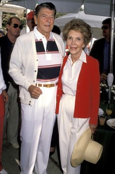 Ronald Reagan & Nancy Reagan, 1990
