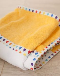 handmade baby hood towel ręcznik kąpielowy z kapturem