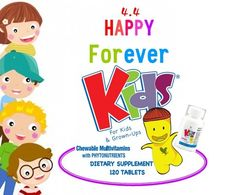 #ForeverKids - Animal-shaped chewable #multivitamins, that provide children with the vital vitamins, #minerals and #phytonutrients they may lack. Orange and grape flavored, formulated without sugar, aspartame, artificial colors or preservatives. Place an order on: jodavies.flp.com