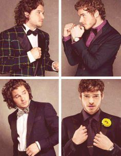 Game of Thrones. Kit Harrington (Jon Snow) and Richard Madden (Robb Stark)
