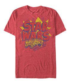 This Red Retro Millennium Falcon 'Star Wars' Tee - Men & Big is perfect! #zulilyfinds