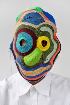 "The Rope Masks collection has since grown to include over 50 masks. An ongoing project, the Netherlands-based artist writes, ""The possibilities are endless, I'm meeting new faces every day."" Inspired by everything from tribal masks to abstract art, his Rope Masks are captivating. 