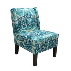 Bright accent chair(s) that aren't too big    Skyline Furniture Wingback Fabric Slipper Chair