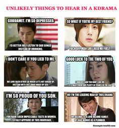 Never ever will you hear these quotes in a drama LOL