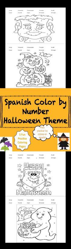 Para celebrar Halloween y practicarlos colores en Espanol!!