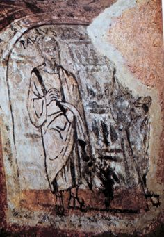 Paul, Catacombs of Praetextatus, fresco, fourth century. Early Christian, Christian Art, Fresco, Tempera, Fall Of Constantinople, Greek Culture, Roman History, Minoan, Modern History