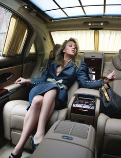 Kaley Cuoco (Penny from Big Bang Theory) in a Maybach :)