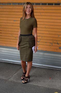 Nina Garcia sports the military trend.