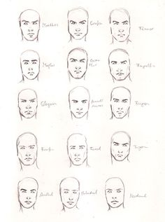 male faces (I either can't make out the names beside them, or they make no sense to me.  good reference though!)