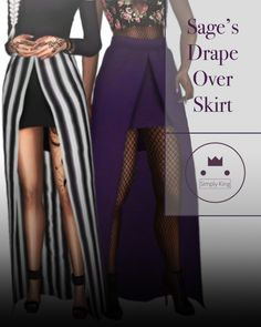 Sage's Drape Over Skirt at Simply King • Sims 4 Updates