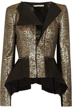 Metallic + leather !!
