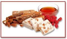 """the """"mandolato"""" is nougat made of sesame, almonds, honey, sugar and rosewater.Very Tasteful sweet!"""