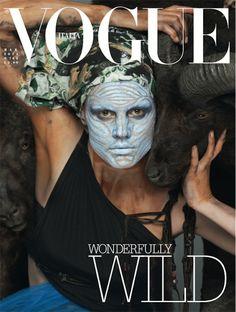 Vogue Italia. Saskia de Brauw x Steven Meisel