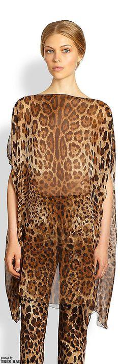 Dolce & Gabbana Silk Leopard Tunic | The House of Beccaria#