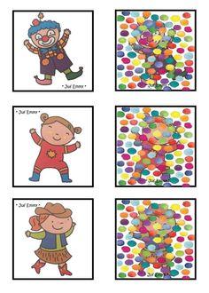 Αποτέλεσμα εικόνας για juf emmy carnaval Preschool Themes, Montessori Activities, Craft Activities, Theme Carnaval, Visual Perception Activities, Clown Crafts, Le Clown, Circus Theme, Diy Arts And Crafts