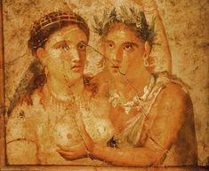 Life in Italy in Roman times: a fresco in Pompeii
