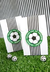 party bags and boxes  #worldcup #party #soccer #birthday