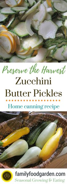 Zucchini Canning Recipe: Butter Pickles - Family Food Garden