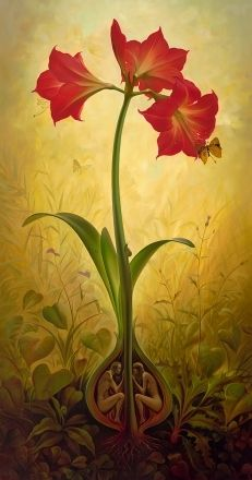 When you lose all sense of self, the bonds of a thousand chains will vanish. Lose yourself completely, Return to the root of the root of your own soul ~ Rumi ♥♥ Beautiful Artwork by Vladimir Kush