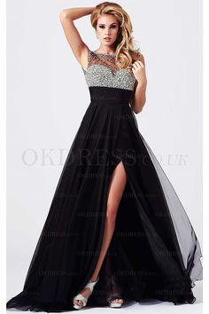 Chiffon Empire Zipper Floor-length Sleeveless Prom Dresses - by OKDress UK