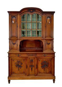 Cabinets Food Buffet 1111019 античный французский Людовика Xvi орех буфет сервант шкаф Ebay