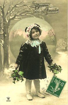 Vintage Postcard ~ Sweet Snow Girl | Flickr - Photo Sharing!