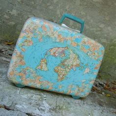 I love this map print suitcase - if only all luggage was this cute!