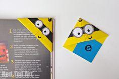 Fácil e divertido de fazer Minion Bookmarks - usar as habilidades básicas do origami para aprender ow para fazer estes divertidos asseclas