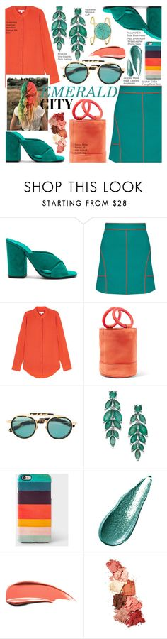 """Kathleen"" by nindi-wijaya ❤ liked on Polyvore featuring Alumnae, Equipment, Simon Miller, Jacques Marie Mage, Paul Smith, Giorgio Armani, Lime Crime, BaubleBar and emeraldgreen"