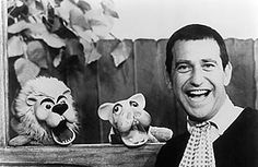 Soupy Sales with Pookie the Lion and Hippie the Hippo on his TV show.  Watched it in the '60s and loved it.  Lunch with Soupy!