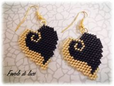 Brick stitch earrings (pattern by Silverhill Design)