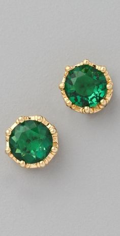emerald green studs, I love emerald jewelry.