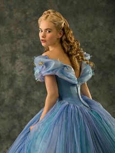 Lily James is beautiful as Cinderella.