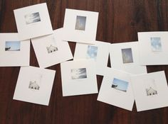 Use them as cards! The Artifact Uprising Square Print Set | 25 images printed on 5x5 paper prints, a yummy superfine eggshell paper stock.  Sarah C. created greeting cards from them...love it!