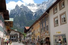 Mittenwald Germany is nestled high in the Alps. The violin museum and cottage industries are fasinating.