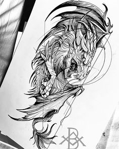 👍Rate the work from to . Comment below. DM us to be Featured. Wolf Tattoos, Animal Tattoos, New Tattoos, Tattoo Sketches, Tattoo Drawings, Dragons, Dibujos Tattoo, Tattoo Designs, Dragon Sketch