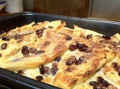 Bread and butter pudding - My absolute favourite! Bread And Butter Pudding, Pudding Desserts, The Dish, Cobbler, Puddings, Crisp, French Toast, Sweet Treats, Dishes