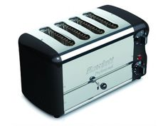 Rowlett Esprit 4 Slice Double Brunch Toaster in Black - Toasters - Electronics