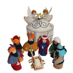 Purchase Magical Felt Nativity Set - White - Silk Road Bazaar (O) from The Gift Yenta on OpenSky. Christmas Moose, Christmas Nativity, Christmas Crafts For Kids, Christmas Stuff, Holiday Crafts, Christmas Ideas, Christmas Decorations, Christmas Ornaments, Jesus In A Manger