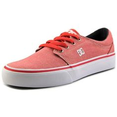 Dc Shoes Dc Shoes Trase Tx Se Women Round Toe Canvas Pink Skate Shoe |... ($31) ❤ liked on Polyvore featuring shoes, sneakers, pink, round toe shoes, grip trainer, canvas sneakers, short heel shoes and dc shoes footwear