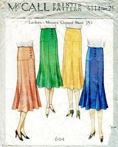 1920s 1930s repro vintage sewing pattern от LadyMarloweStudios