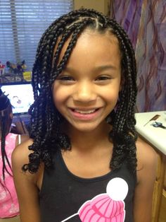 Top 60 All the Rage Looks with Long Box Braids - Hairstyles Trends Box Braids Hairstyles, Lil Girl Hairstyles, Black Kids Hairstyles, Girls Natural Hairstyles, Teenage Hairstyles, Kids Braided Hairstyles, School Hairstyles, Modern Hairstyles, Children Hairstyles