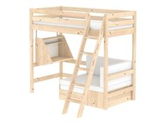 Sofabett kinderzimmer  Flexa Hochbett Weiß Casa mit Gästebett, Schreibtisch, Schräg ...
