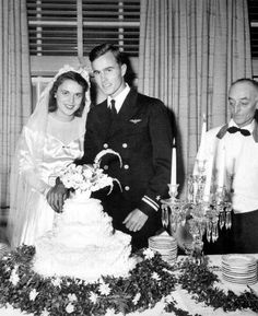 George H.W. Bush and Barbara on their wedding day in 1945.