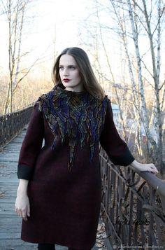 Купить Платье валяное Лилит в интернет магазине на Ярмарке Мастеров