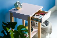 ENTLIK is a versatile side table, which can be used as a cabinet or small coffee table. It can also serve as a nightstand, flower stand or an end table placed next to your sofa. Bedside, Nightstand, Small Coffee Table, Flower Stands, Grey Light, Dark Grey, Timeless Design, End Tables, Living Room Decor