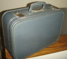 vintage luggage ... Burgundy SAMSONITE 70s TRAIN CASE suitcase ...